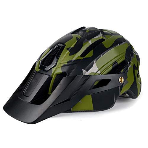 Xiaopeng Casco de Bicicleta Ultraligero EPS + PC MTB, Casco de Camuflaje,...