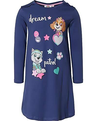 PAW Patrol Mädchen Nachthemd kuscheliger Pyjama Jumpsuit Schlafanzug Onesie Pyjama Skye + Everest pink + Navy Gr.98 104 110 116 128 (Navy, 110)