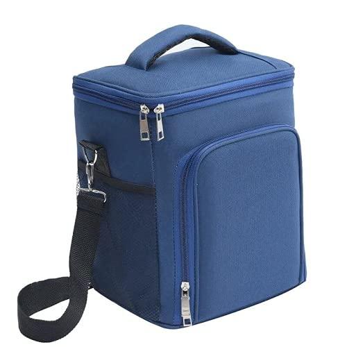 HANMOU Bolsas térmicas, mochilas de pícnic para jóvenes, paquetes de almuerzo para niños, bolsas aislantes para llevar, mochilas aislantes para el transporte de alimentos, color azul, 23 x 19 x 28 cm