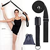 WenderGo Yoga Strap Leg Stretcher Band On Door Stretch Belts Stretching Equipment for Yoga Ballet Dance Fitness Flexibility Training Gymnastic Exercise