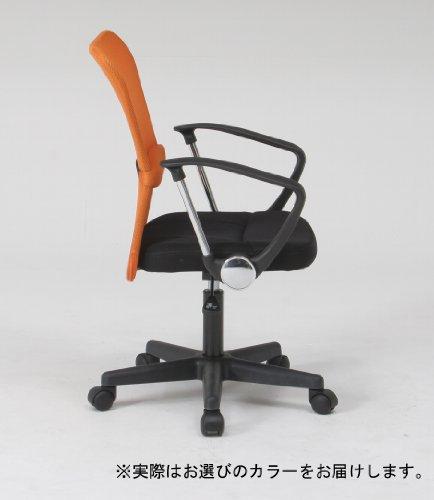 不二貿易オフィスチェアデスクチェアメッシュ肘付き腰サポートブラックハンター90870