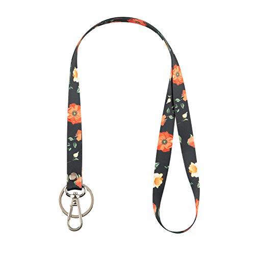 Women's Signature Lanyard, Flower Lanyard,Keys Lanyard,Lanyards for ID Badges 2pack(NO.1)