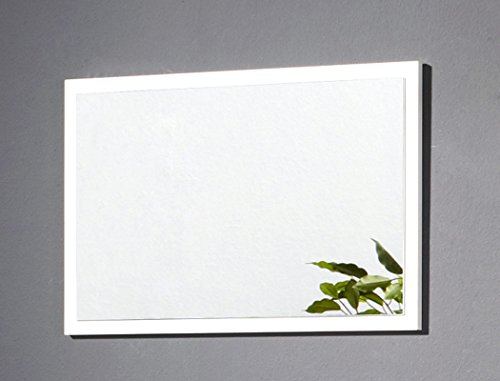 expendio Wandspiegel Bardo 70x45x2 cm weiß Dekor Garderobenspiegel Spiegel Flurspiegel Garderobe