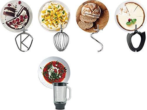 Kenwood Titanium Chef Patissier XL KWL90.034SI – Küchenmaschine mit integrierter Waage & 7 L Rührschüssel mit Wärmefunktion, 1400 Watt, inkl. 4-teiligem Patisserie-Set, silber - 3