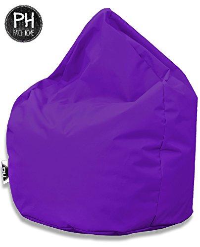 Patchhome Sitzsack Tropfenform - Lila für In & Outdoor XL 300 Liter - mit Styropor Füllung in 25 versch. Farben und 3 Größen