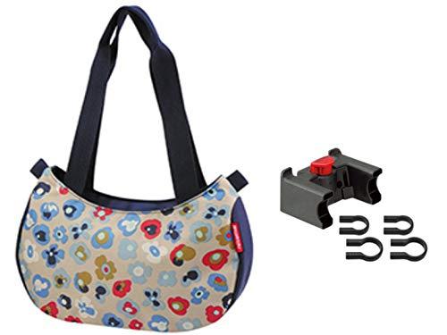 KlickFix Damen Stylebag Lenkertasche, Millefleurs, 4 Liter