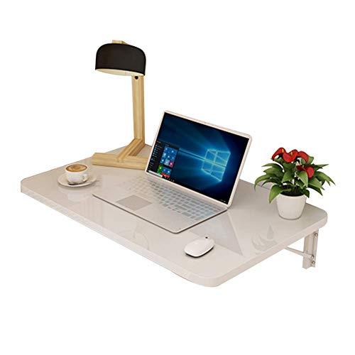 Vibrerende bureau, eenvoudige eettafel, met houten plaat, 4 kleuren, 10 groottes (kleur: rood, maat: 90 x 40 cm) 70x40CM Wit