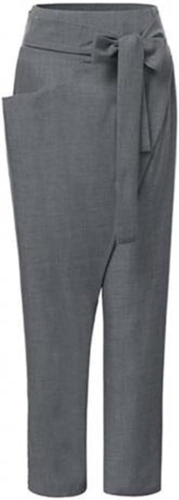 NP Waist Black Irregular Harem Trousers Loose Fit Pants Women Spring Summer