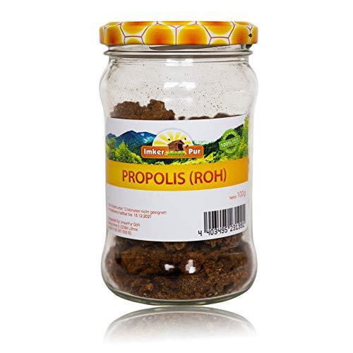 Propolis von ImkerPur, roh, 100g, antibakteriell, rückstandsfrei, direkt vom Bienenstand