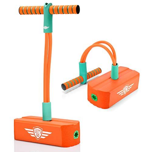 LetsGO toyz Juegos Niños 3-12 Años, Regalos para Niña de 4 a 12 Años Juguetes Niño 3-12 Años Regalos Cumpleaños Niños 3-12 Años Pogo Stick Bouncer - Naranja