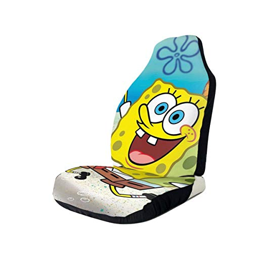 AIXIULEIDUN Spongebob Car and Truck Seat Covers: Universal Fit, Machine Washable, Soft and Non-Slip. After Workout, Hot Yoga, Beach Seat Cover-Car Decoration Accessories 2 Pcs