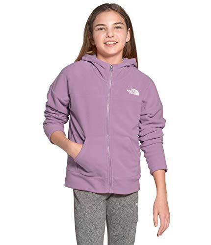 The North Face Girls' Glacier Full Zip Hoodie, Lavender Mist, XL