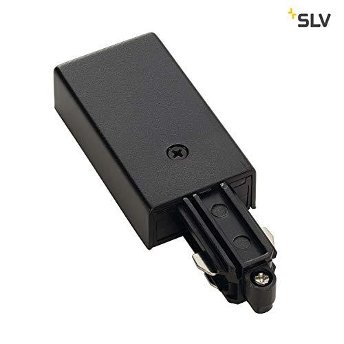 SLV Einspeiser für 1-Phasen HV-Stromschiene Aufbauversion, Erde links, schwarz 143030