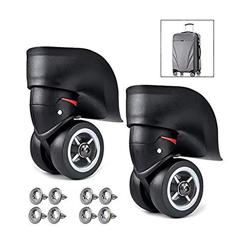 Queta 1 Paar Ersatzräder für Koffer, Lenkrollen aus Kautschuk, Ersatzrollen für Koffer