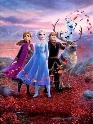 5D DIY Full Drill Cartoon Movie Frozen Diamond Painting Embroidery Decor Mural 30x40cm