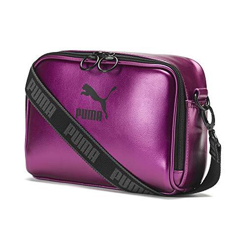 PUMA Prime Damen Kleine Umhängetasche Purple Wine-Black-metallic OSFA