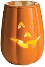 CANDLE WARMERS ETC. Halloween Illumination Fragrance Warmer- Light-Up Warmer for Warming Scented Candle Wax Melts and Tarts or Essential Oils to Freshen Room, Jack O'Lantern