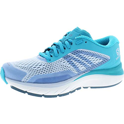Salomon Women's Sonic Ra Max 2 Running Shoes, Cashmere Blue/Bluebird/Illusion Blue, 9.5