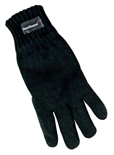 Thinsulate 3M Kinder Jungen Thermo Warm Outdoor Elegant Strick Gestrickt Handschuhe Fingerhandschuhe für Winter (Black, 6-7 Jahre)