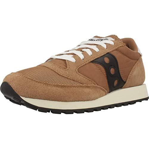 Saucony Jazz Original Vintage, Zapatillas para Hombre, Marrón (Brown/Black 47), 44 EU