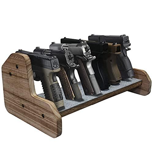 DINGDOON Pure Wood Made Pistol Rack, Handgun Rack for Gun...