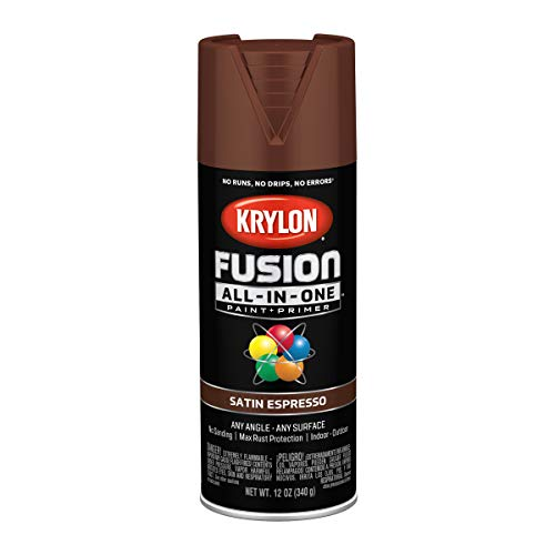 Krylon K02738007 Fusion All-In-One spray-paints, Espresso