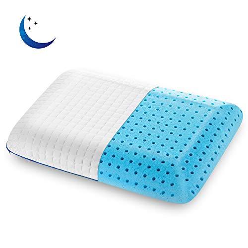 SENOSUR Memory Foam Kissen 60x40cm Thermo-Gel, weiches und stützendes Kissen, orthopädisches Nackenkissen, ergonomisches Nackenkissen, abnehmbarer und waschbarer Bezug