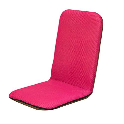 Lazy Sofa Fold Chaise Chambre Salon Tissu Individuel Loisirs Fauteuil -LI JING SHOP (Couleur : Rose rouge)