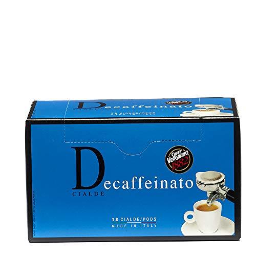 Caffè Vergnano 1882 Cialde Caffè Decaffeinato - 6 confezioni da 18 cialde, filtro in carta (totale 108)