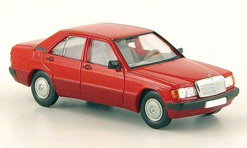 Mercedes 190E (W201), rot, 1988, Modellauto, Fertigmodell, Brekina Starmada 1:87