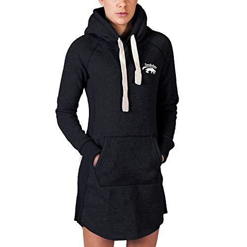 SMILODOX Longpullover Damen   Hoodie für Sport Fitness & Freizeit   Oversize Kapuzenpullover   Pullover - Sportpullover - Sweatshirt - Pulli - Langarmshirt Lang, Farbe:Schwarz, Größe:XS