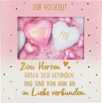 Hochzeitskarte Klappkarte 3D mit Musik & Licht Zur Hochzeit Zwei Herzen haben sich.