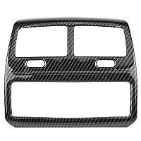 カーインテリアの装飾 ステッカー ABS炭素繊維の色の車のスタイリングリアエアコンベントアウトレットフレームカバートリム車のステッカーのためにBMW 5シリーズG30 2017 2018 (サイズ : A)