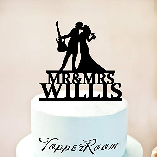 Guitar Wedding Cake Topper Musician And Fitness Trainer Cake Topper Musician Wedding Cake Topper Guitar Player Cake Topper Cake Topper