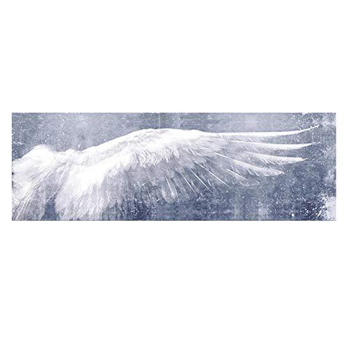 BGFDV Azul Claro, Blanco, alas de Plumas de ángel Modernas, Pintura al óleo sobre Lienzo, Carteles e Impresiones en la Pared, imágenes artísticas para la Sala de Estar