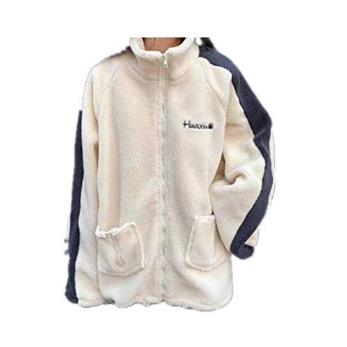 Oversize Damen Bekleidung Frühling Herbst Winter Patchwork Mäntel Dicke Jacken Damen Übergröße Streetwear Korea Gr. XXX-Large, beige