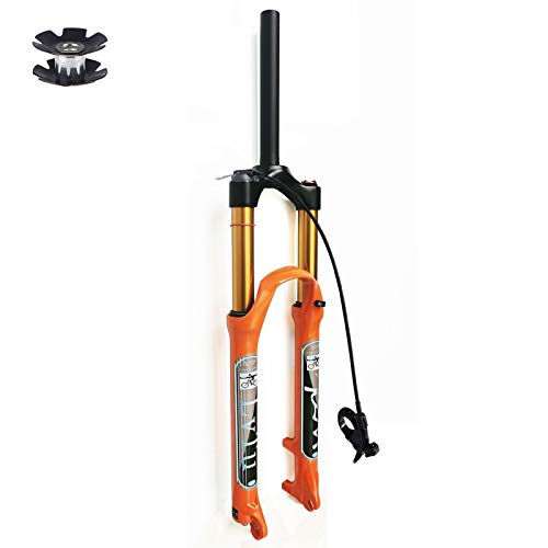 VXXV Mountain Bike Front Forks 26 27.5 29 Inch 140mm Travel Air Pressure Shock Absorber MTB Suspension Fork Bicycle Accessories Magnesium Alloy disc Brake