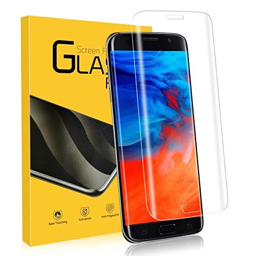 NONZERS Verre Trempé pour Samsung Galaxy S7 Edge, [1 Pièces] 9H Dureté Film de Protection d'écran en Verre Trempé S7 Edge, [3D Couverture Complèt] Anti-Rayures sans Bulles, Vitre Samsung S7 Edge