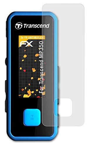 atFoliX Panzerfolie kompatibel mit Transcend MP350 Schutzfolie, entspiegelnde und stoßdämpfende FX Folie (3X)