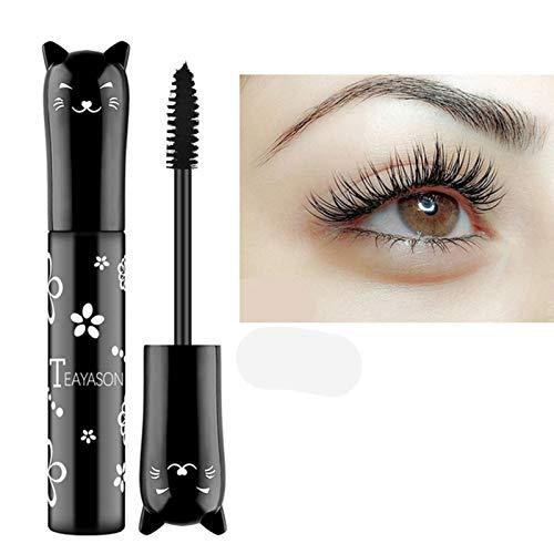 Cat eye mascara Eyes Makeup Color Mascara Waterproof Fast Dry Eyelashes Curling Lengthening Makeup Eye Lashes Party Stage Use (black)