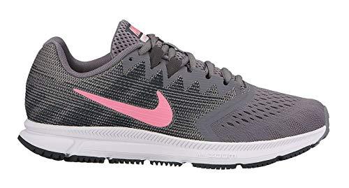 Nike Damen Laufschuh Zoom Span 2, Zapatillas de Running para Mujer, Gris (Gunsmoke/Sunset Puls 007), 40.5 EU
