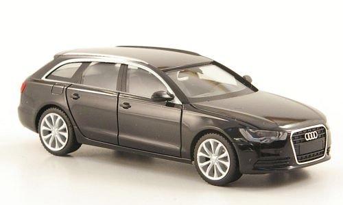 Audi A6 Avant, schwarz, Modellauto, Fertigmodell, Herpa 1:87