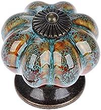 LHSJYG Ladeknoppen, lade handgrepen 10 stks/set keramische knoppen met kleurrijke knoppen en pompoen handgrepen lade keram...