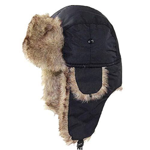 Hotaden Los Hombres de esquí Sombrero con el oído Flaps Plegable a Prueba de Viento Bombardero Ruso Sombreros Accesorios del Traje de esquí de Caza