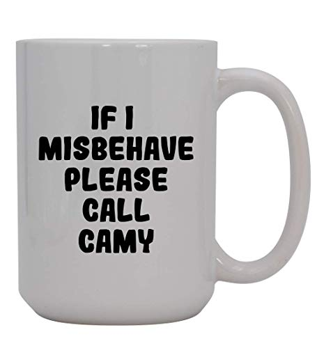 N\A Si me Porto Mal, por Favor Llame a Camy - Taza de café Blanca de cerámica, Blanca