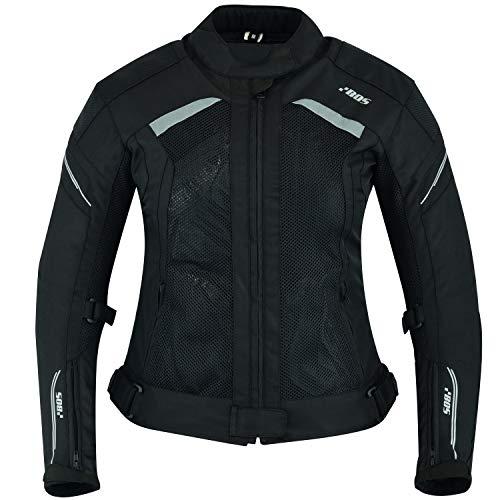 BOS Damen Motorrad Jacke Motorradjacke Textil (L, Ayline Rose Schwarz)