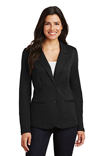 Port Authority?LM2000 Ladies Knit Blazer, S, Black