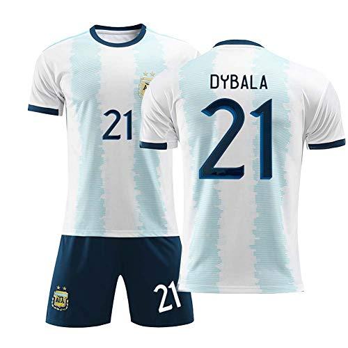 Crstal 2019-20 Dybala 21# Soccer Jerseys Boys-Girls-Youth Sport Shirts and Shorts Set (Size:22)