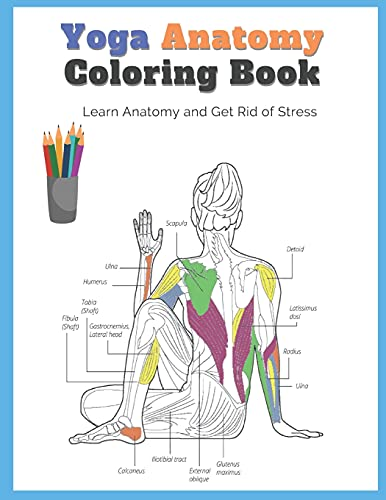 Yoga Anatomy Coloring Book: Learn Anatomy and Get Rid of Stress