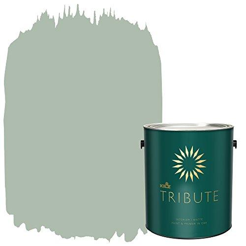 KILZ TRIBUTE Interior Matte Paint and Primer in One, 1 Gallon, Statue Green (TB-63)